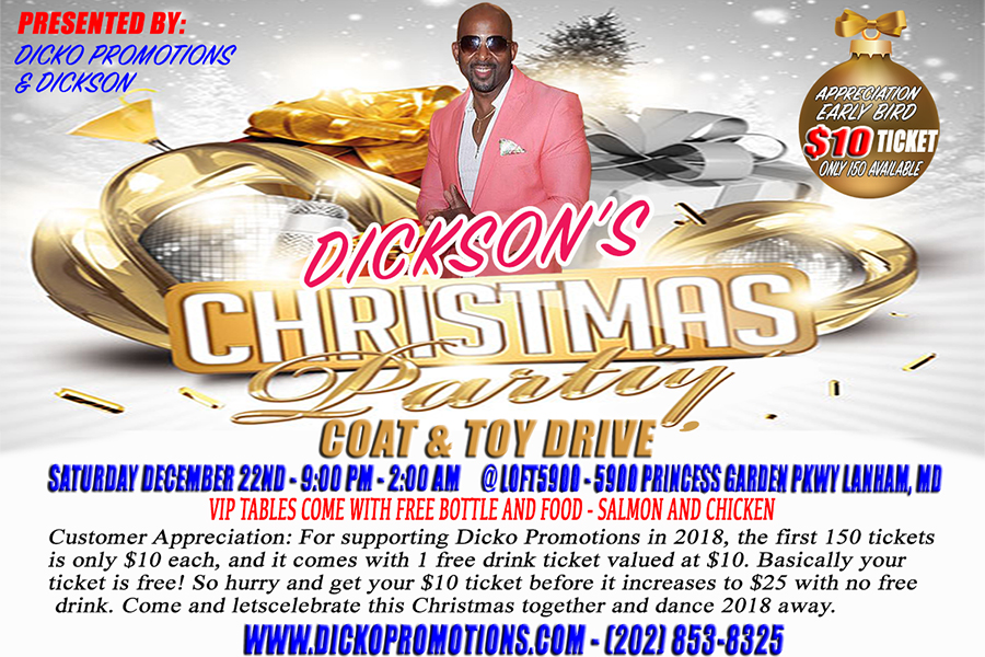 Dicko's Christmas Party Dec. 22, 2018